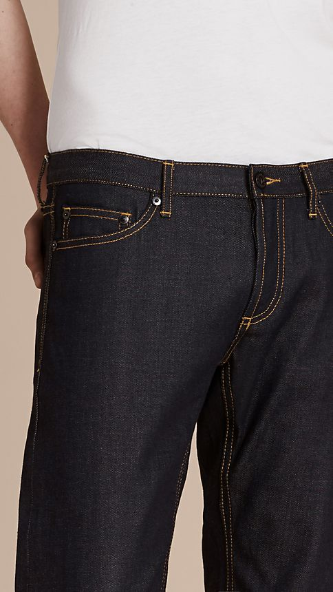Indigo Skinny Fit Indigo Selvedge Jeans - Image 4