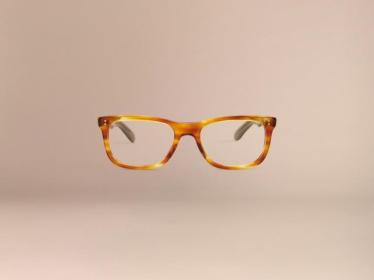 Tortoise amber Square Optical Frames Tortoise Amber - cell image 4
