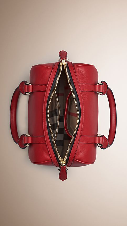 Parade red The Small Alchester in Leather - Image 5