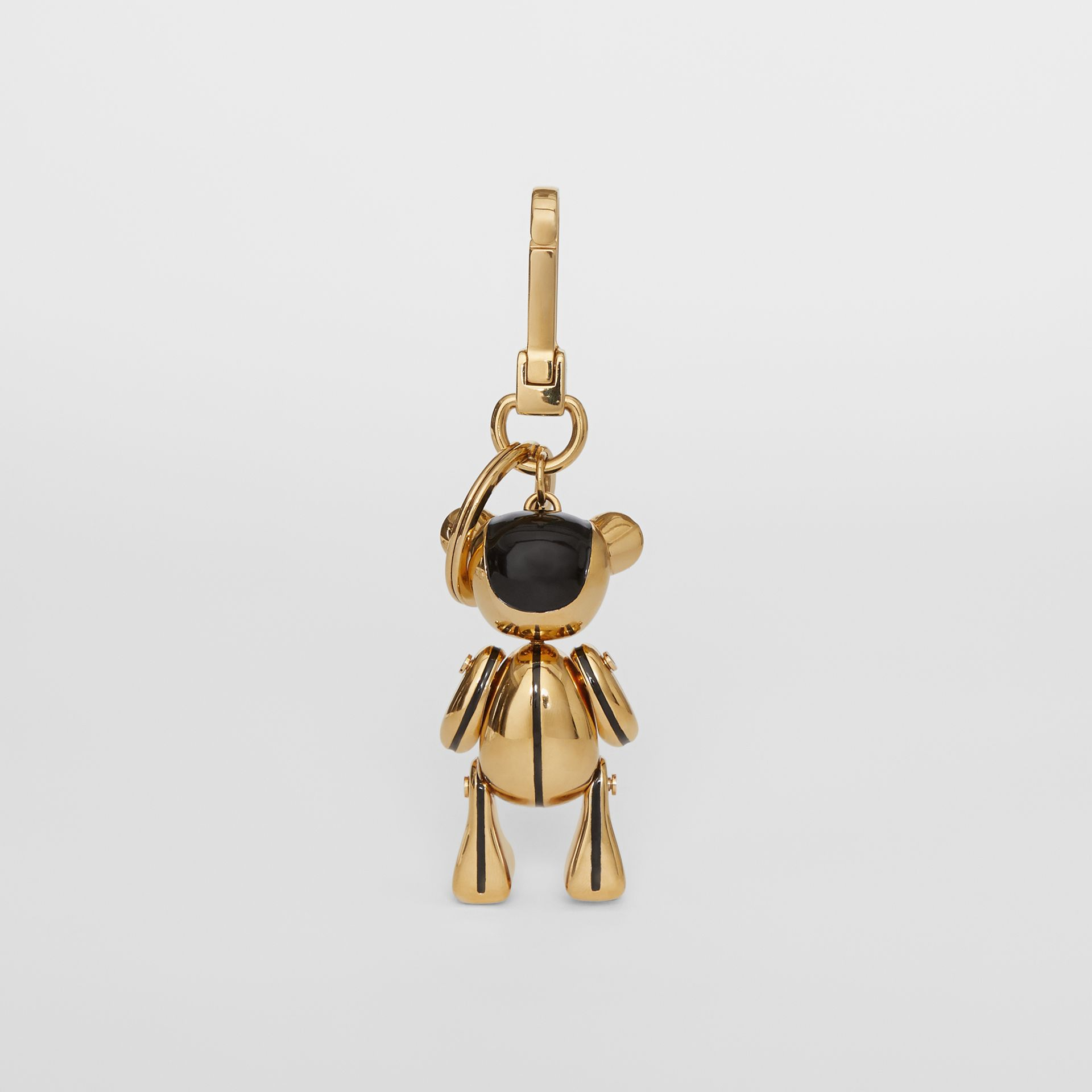 Gold-plated Thomas Bear Charm in Black/light | Burberry Singapore - gallery image 3