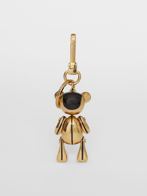 Gold-plated Thomas Bear Charm in Black/light | Burberry United Kingdom - cell image 3