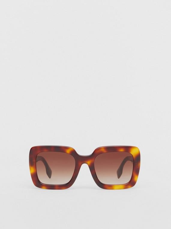 Большие солнцезащитные очки в квадратной оправе (Черепаховый)