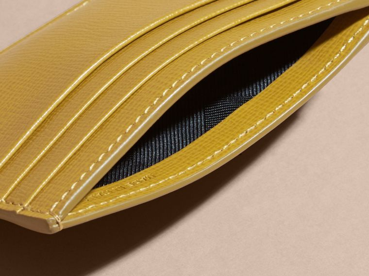 London Leather Money Clip Card Case Larch Yellow - cell image 4