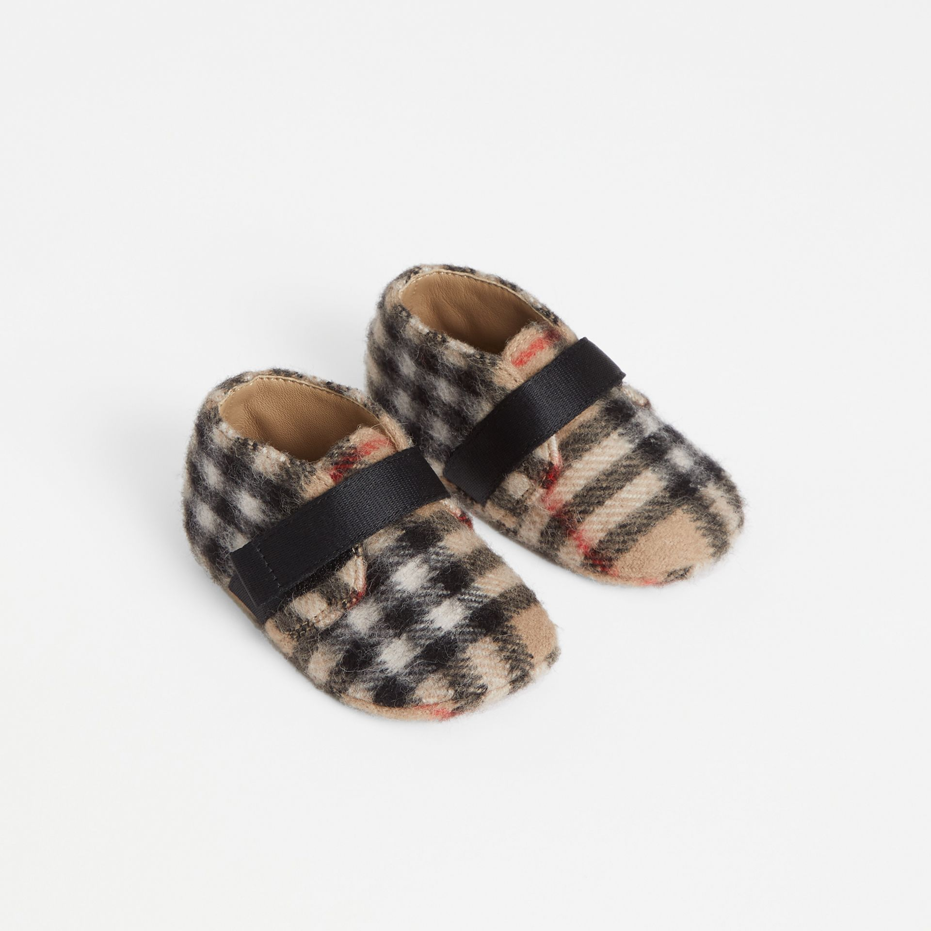 Vintage Check Wool Shoes in Archive Beige - Children | Burberry - gallery image 0