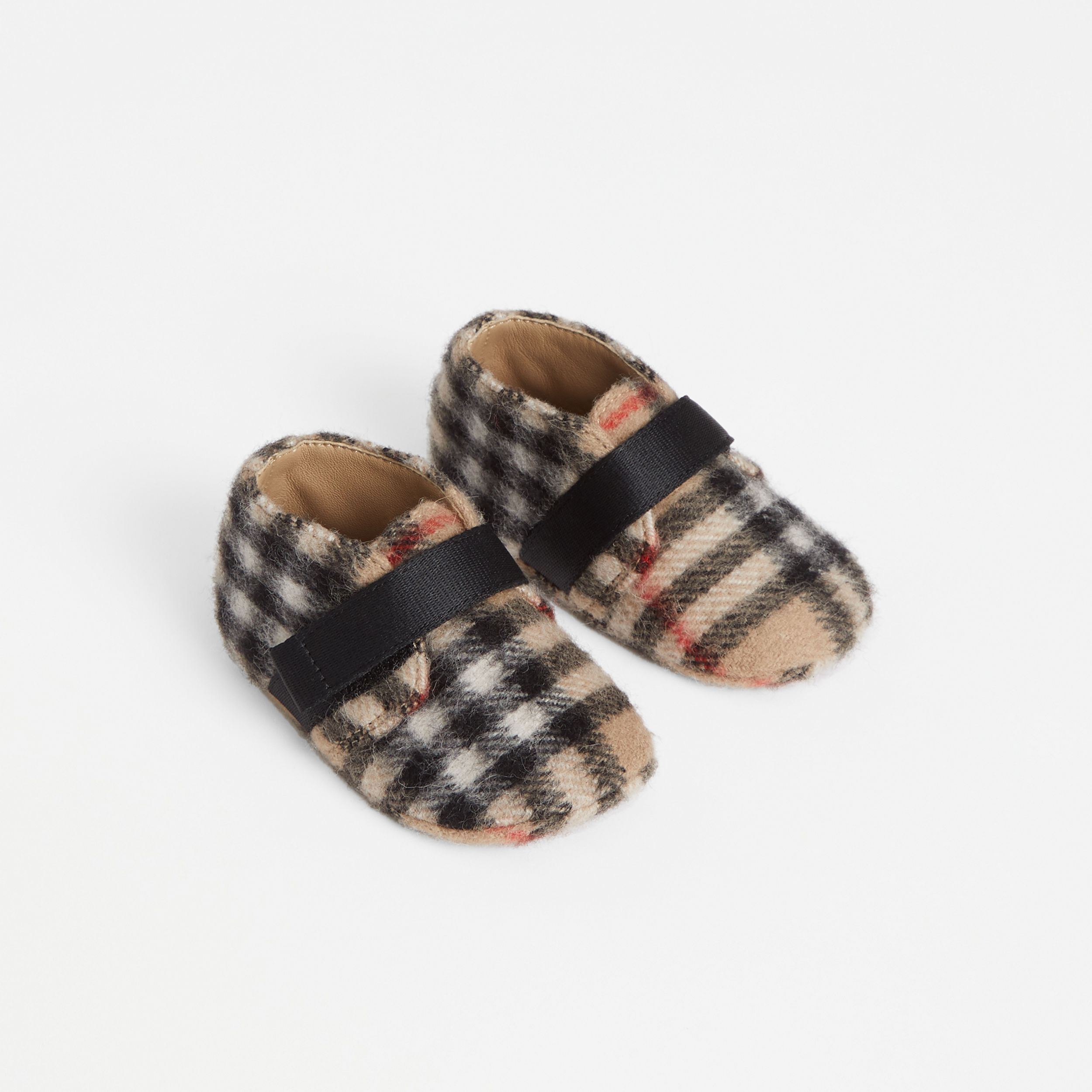 Vintage Check Wool Shoes in Archive Beige - Children | Burberry United Kingdom - 1