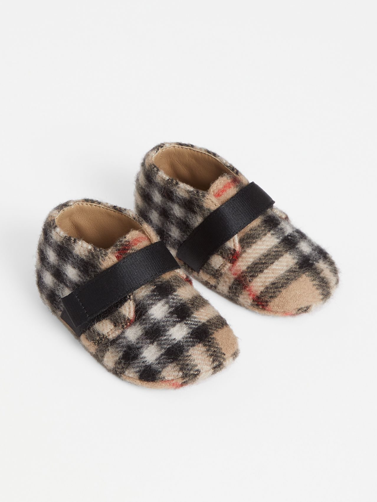 Vintage Check Wool Shoes in Archive Beige