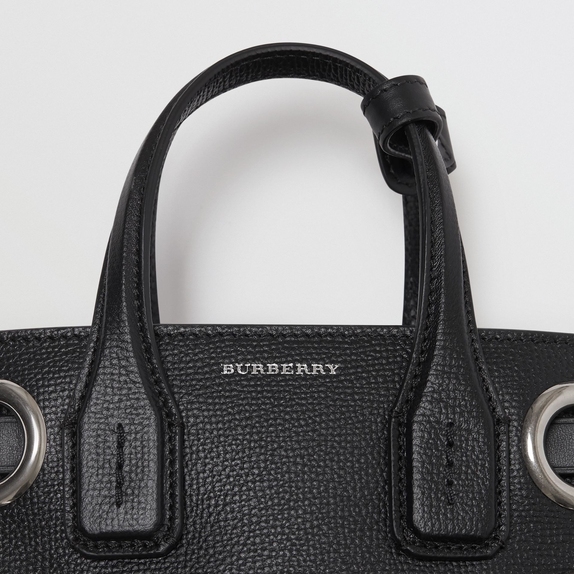 The Baby Banner in Grommeted Leather in Black - Women | Burberry - gallery image 1