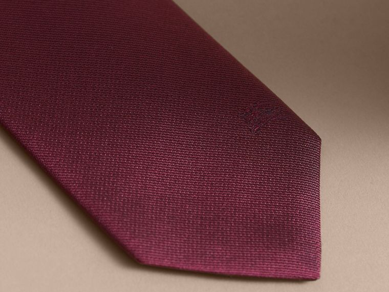 Modern Cut Silk Twill Tie Dark Plum Pink - cell image 1