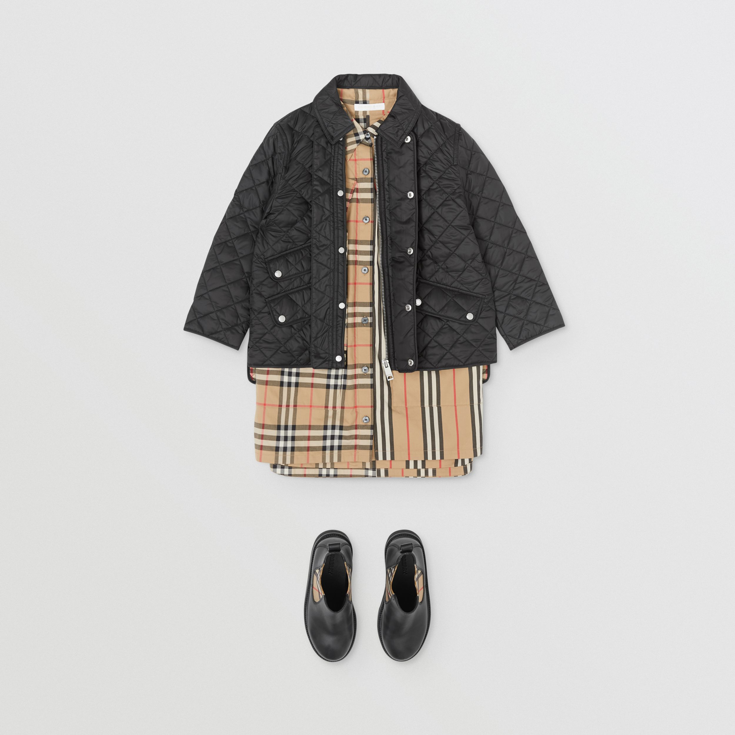 Lightweight Diamond Quilted Jacket in Black | Burberry - 4