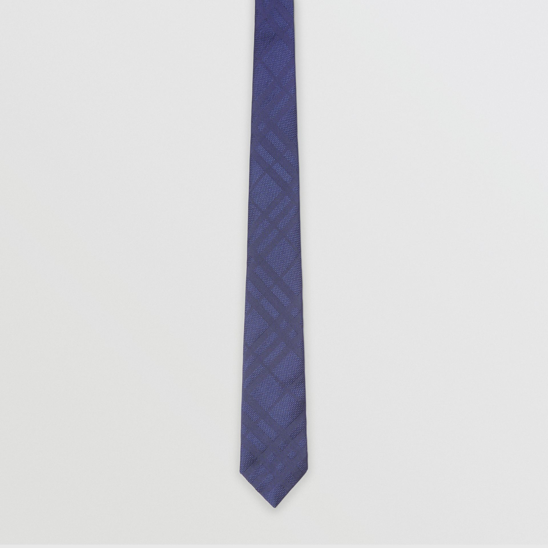 Classic Cut Check Silk Jacquard Tie in Blue - Men | Burberry United Kingdom - gallery image 3