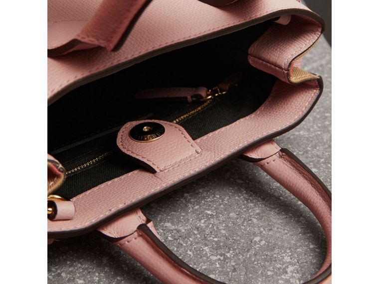 The Baby Banner in Leather and House Check in Pale Orchid - Women | Burberry United States - cell image 4