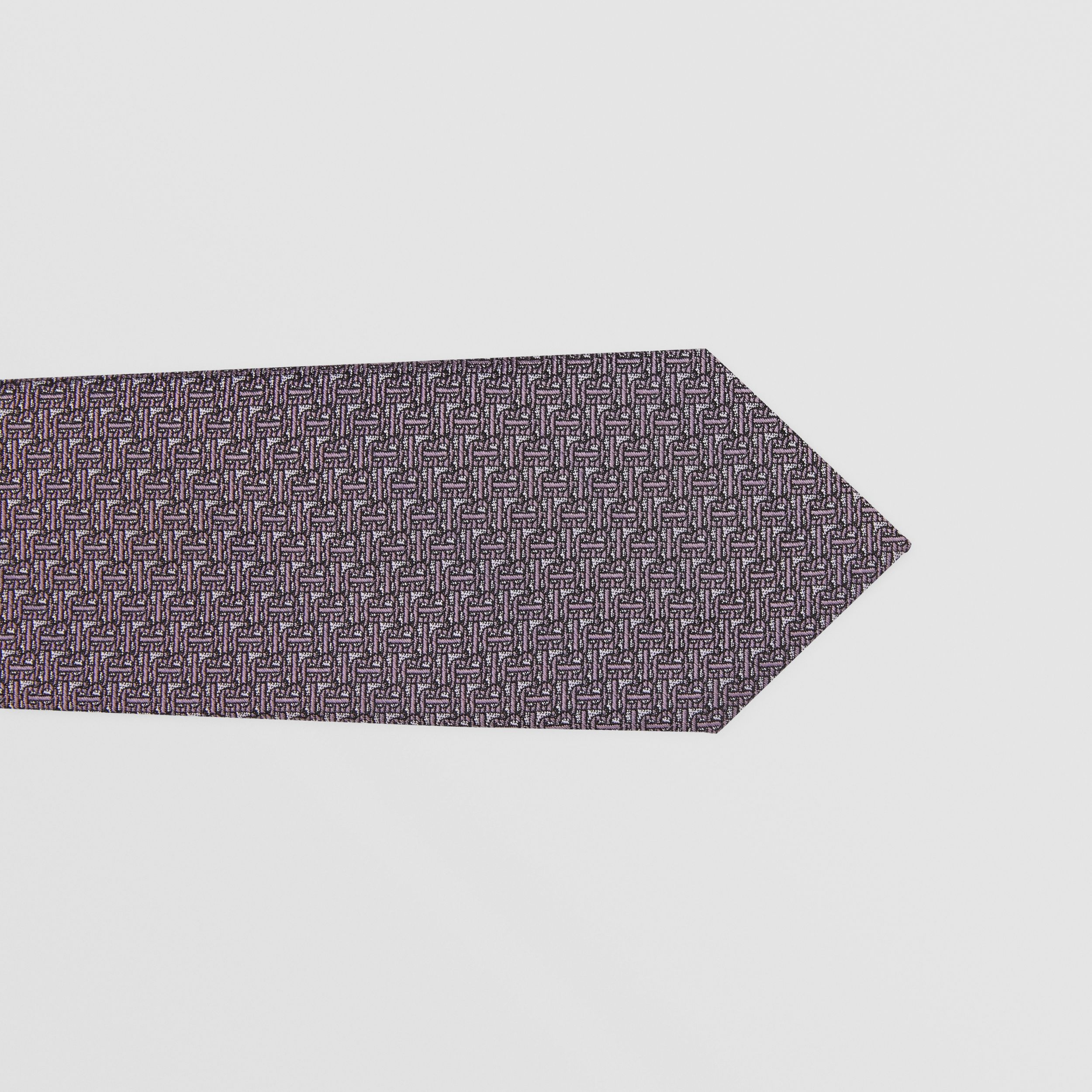 Classic Cut Monogram Silk Jacquard Tie in Pale Lavender - Men | Burberry - 2