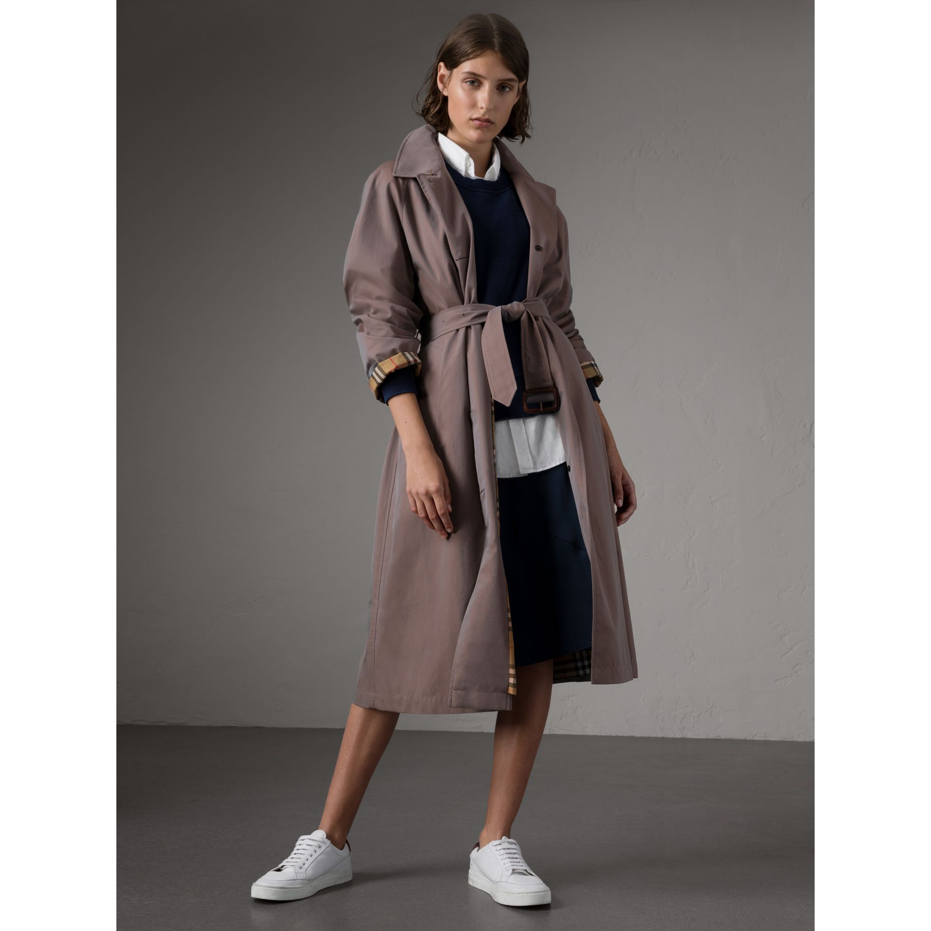 The Brighton – Extra-long Car Coat in Lilac Grey - Women | Burberry Singapore - gallery image 1