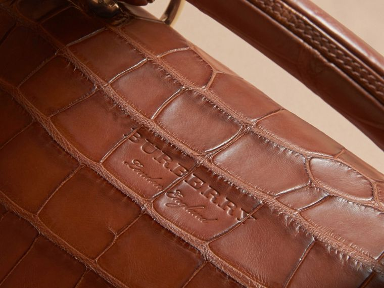 The Medium DK88 Top Handle Bag in Alligator in Tan - Women | Burberry - cell image 4