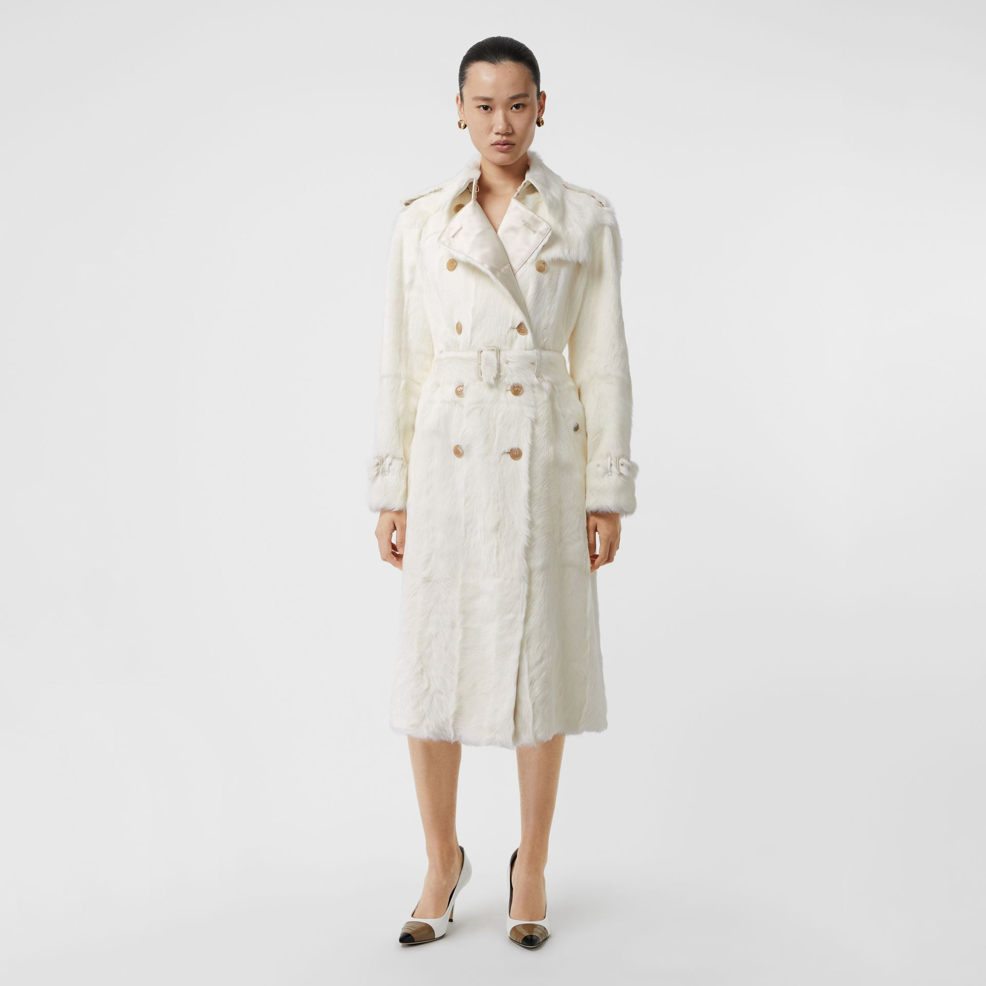 Goat Trench Coat in Ecru - Women | Burberry United Kingdom - gallery image 0