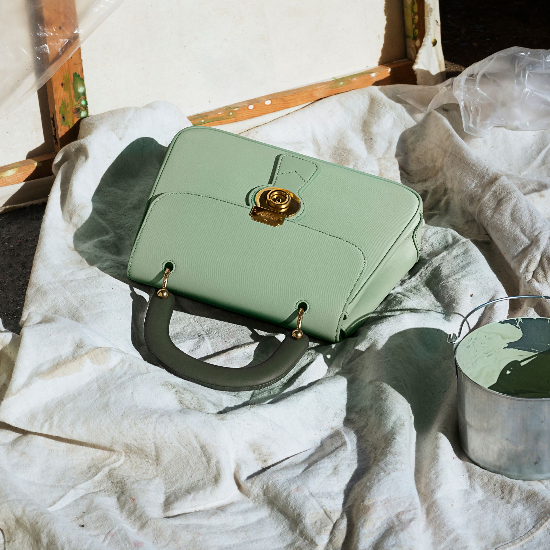 The Medium DK88 Top Handle Bag in Celadon Green - Women | Burberry - gallery image 8