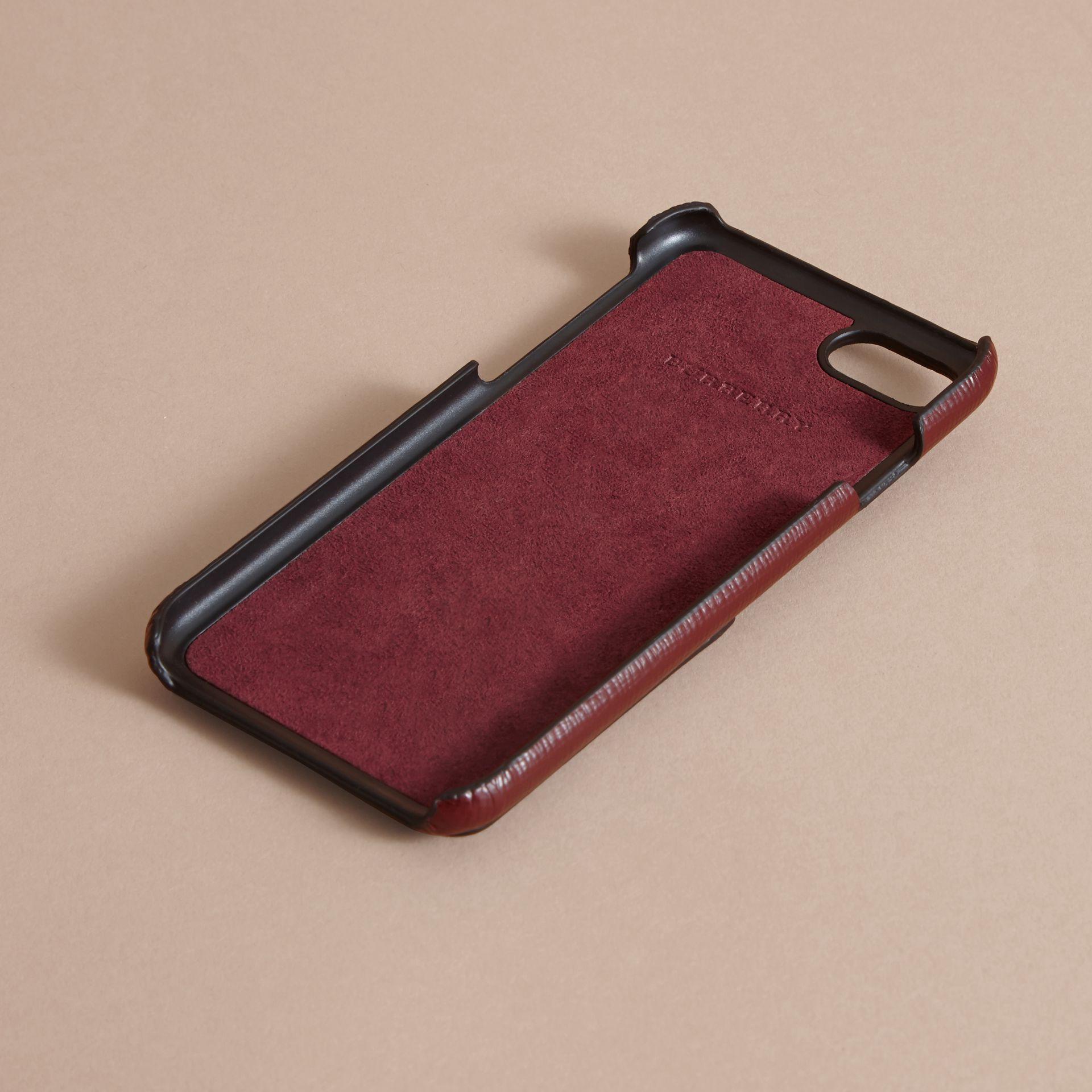 Grainy Leather iPhone 7 Case Burgundy Red - gallery image 4