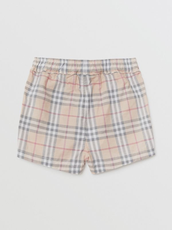 Check Cotton Shorts in Pale Stone - Children | Burberry Hong Kong - cell image 3