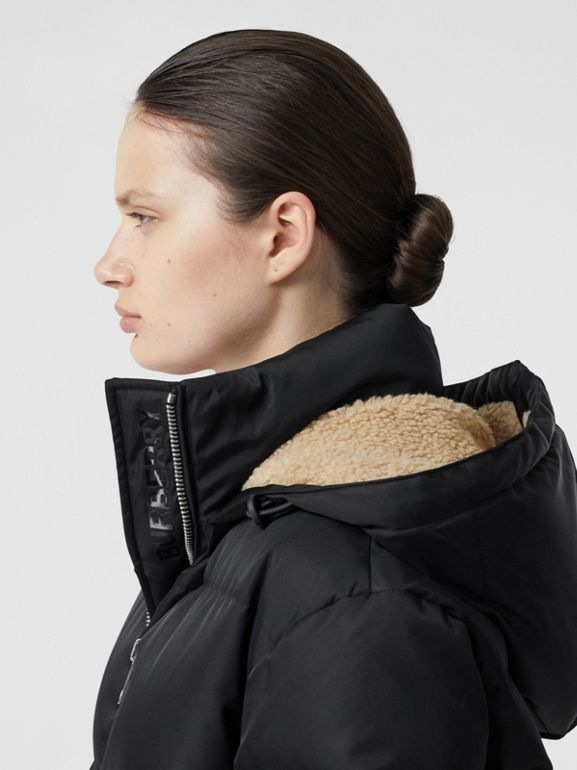 Logo Detail Puffer Coat in Black - Women | Burberry - cell image 1
