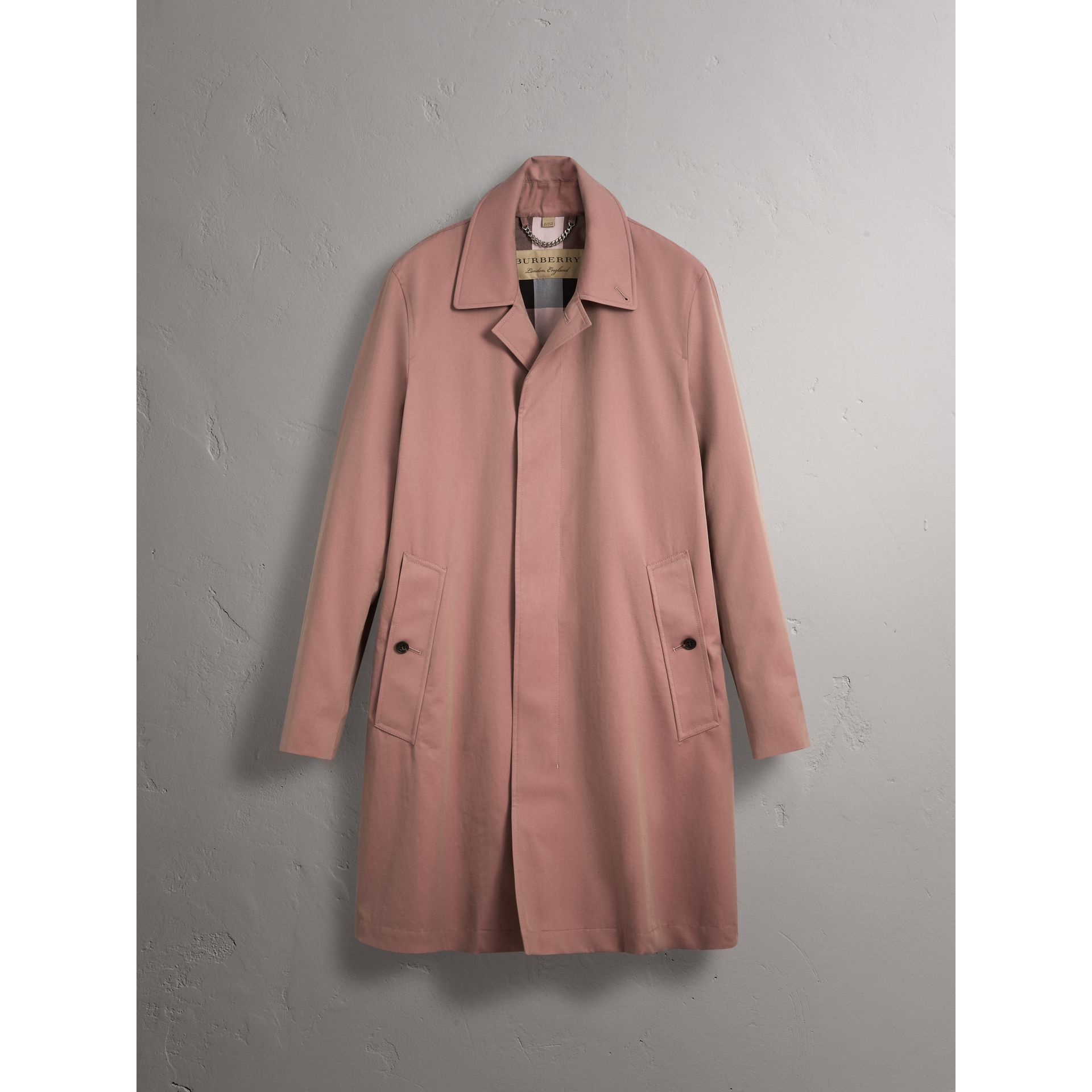 Tropical Gabardine Car Coat in Antique Rose - Men | Burberry - gallery image 4