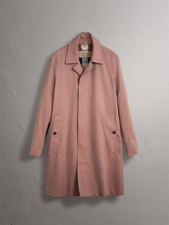 Tropical Gabardine Car Coat in Antique Rose - Men | Burberry - cell image 3
