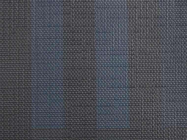 London Check Document Case Navy/black - cell image 1