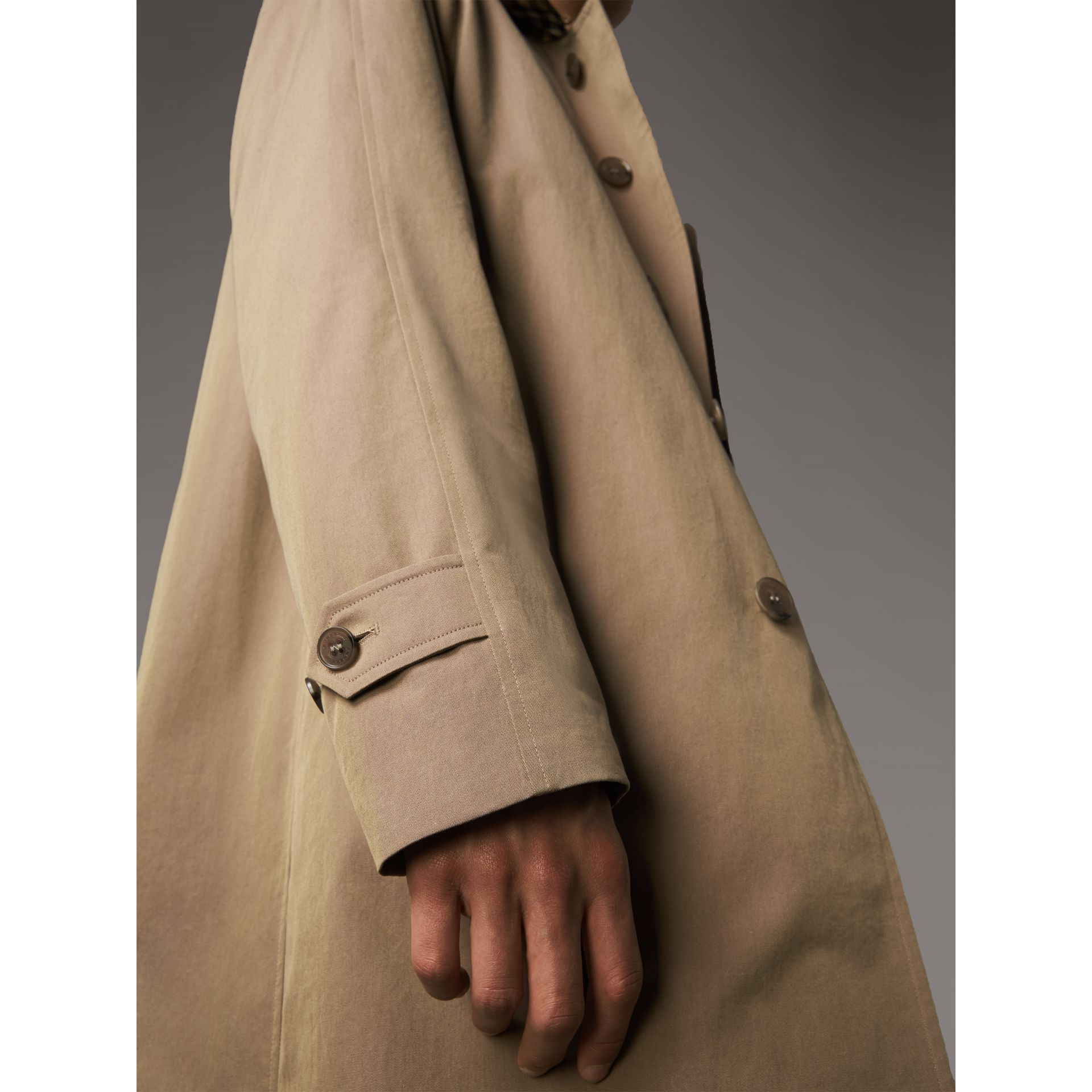 The Camden Car Coat in Taupe Brown - Men | Burberry United Kingdom - gallery image 4
