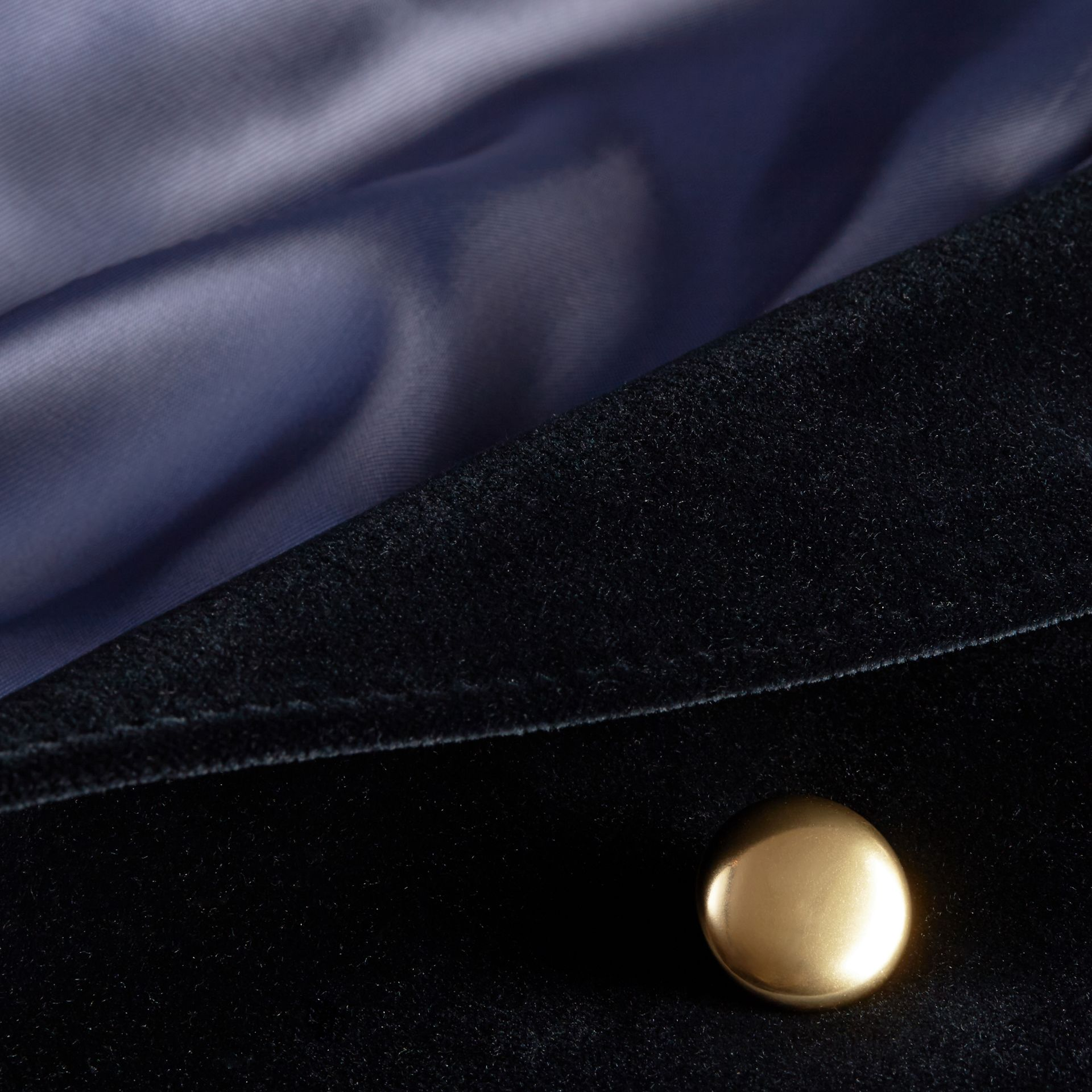 Navy Double-breasted Velvet Jacket - gallery image 2