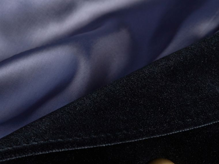 Navy Double-breasted Velvet Jacket - cell image 1