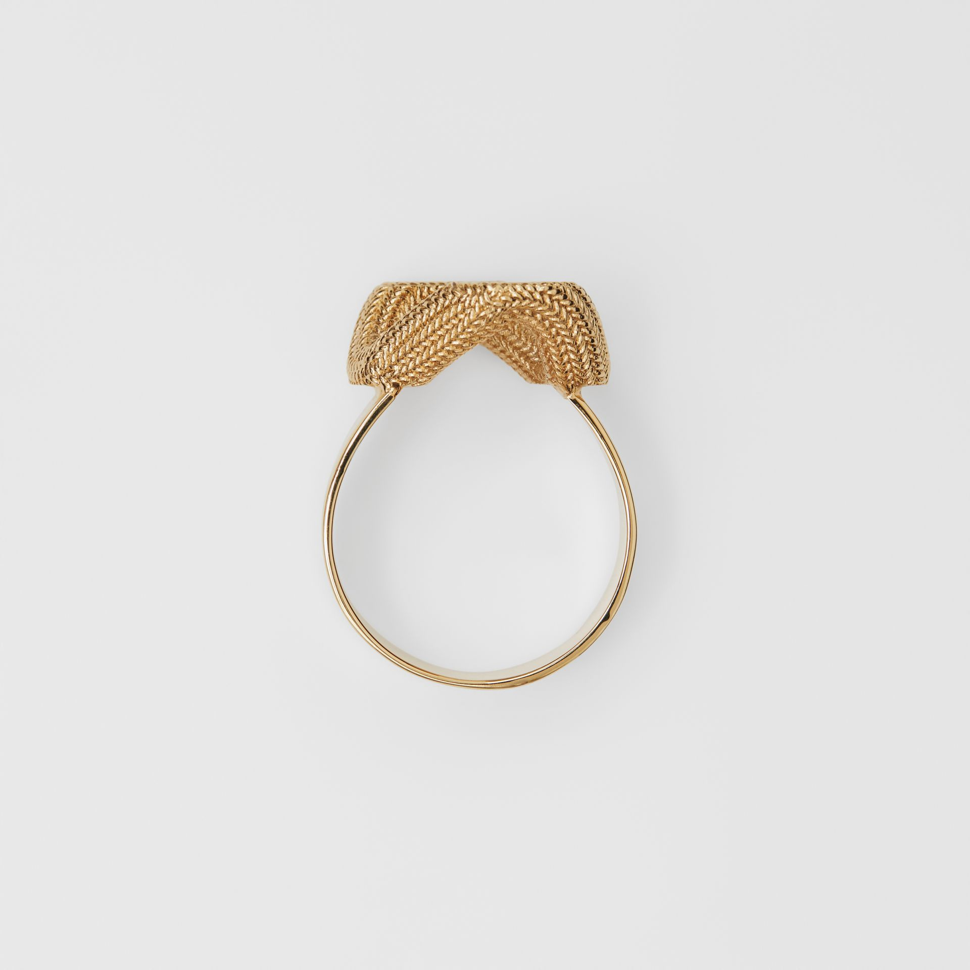 Gold-plated Chain-link Ring in Light - Women | Burberry United Kingdom - gallery image 0