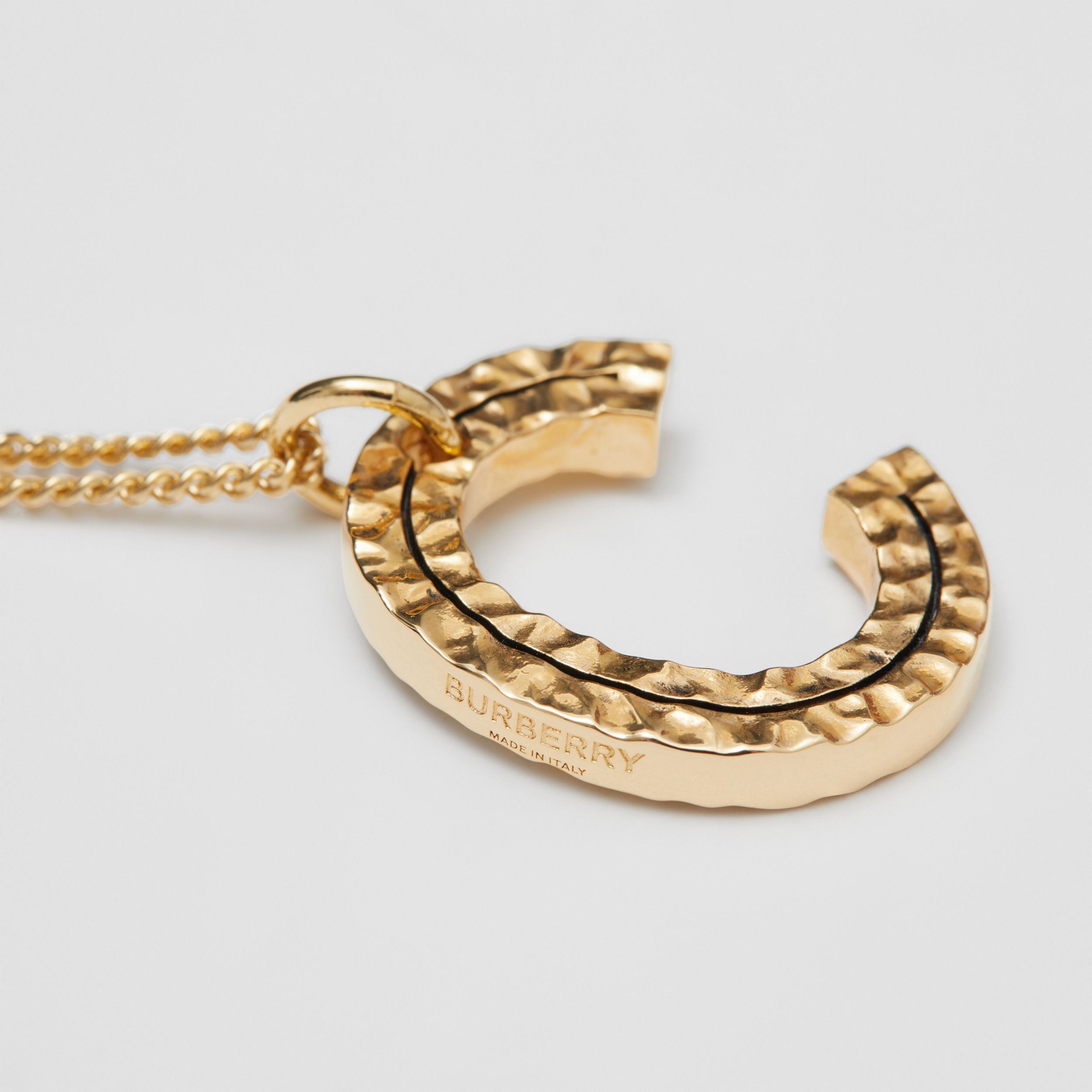 'C' Alphabet Charm Gold-plated Necklace in Light - Women | Burberry - 2
