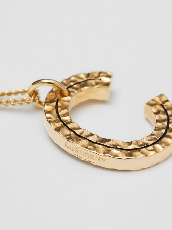 'C' Alphabet Charm Gold-plated Necklace in Light - Women | Burberry United Kingdom - cell image 1