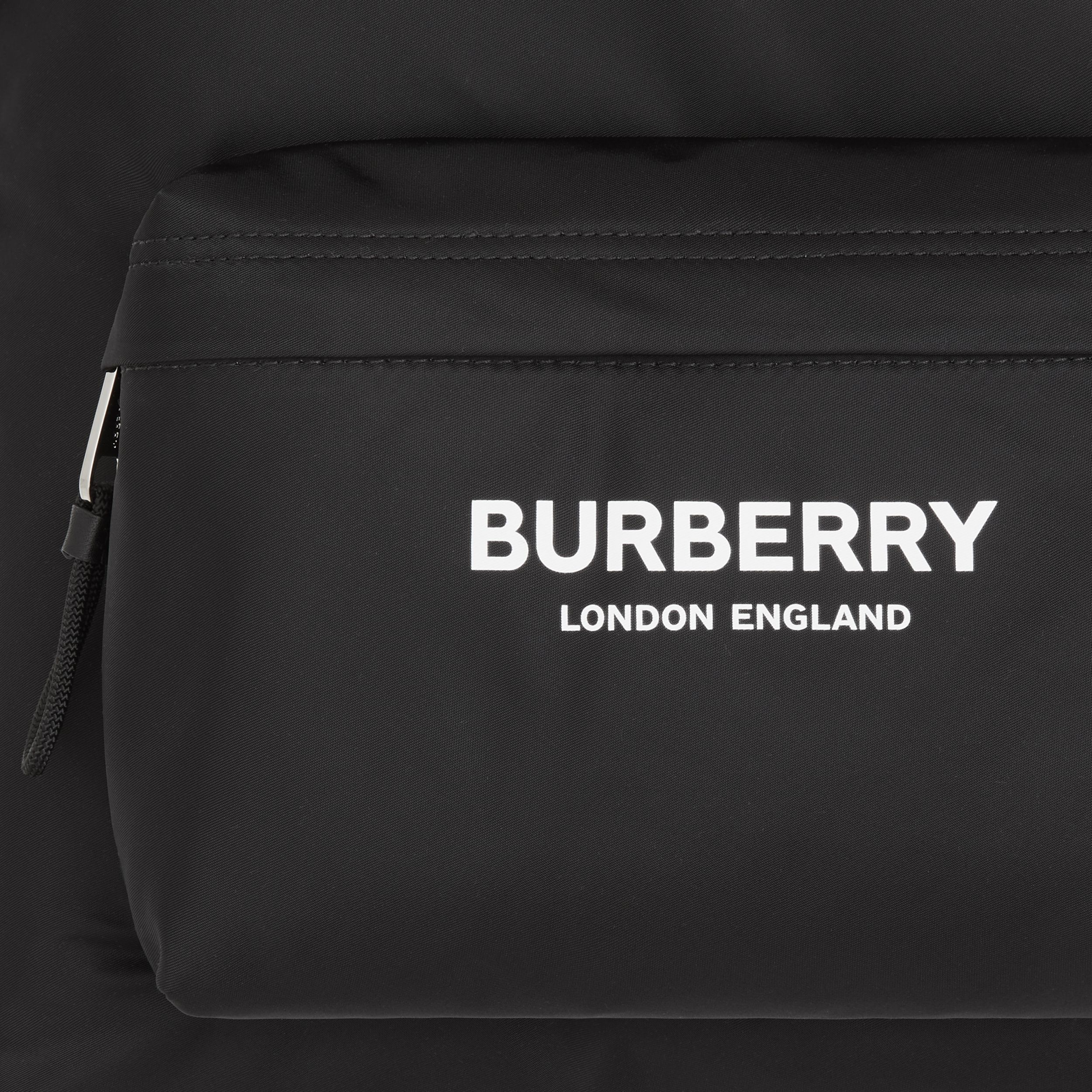Logo Print ECONYL® Backpack in Black | Burberry Canada - 2