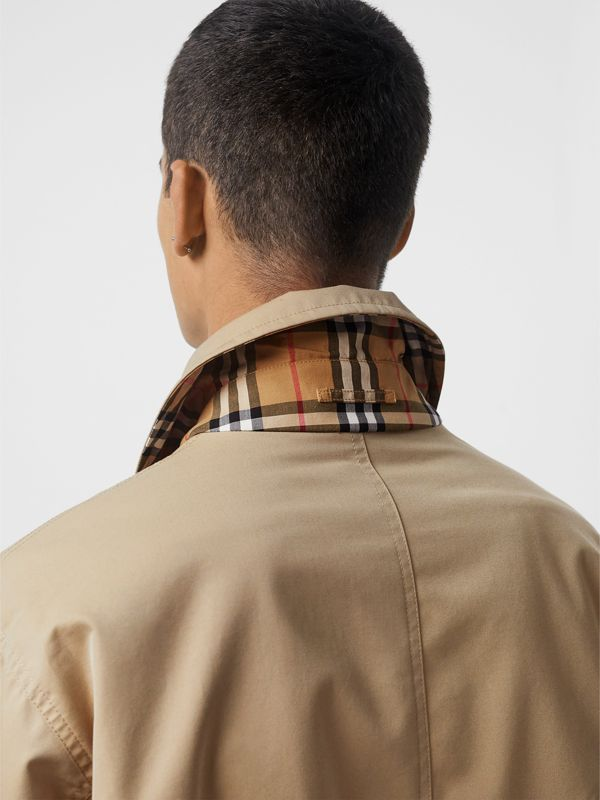 Reversible Gabardine and Check Harrington Jacket in Honey - Men | Burberry United Kingdom - cell image 2