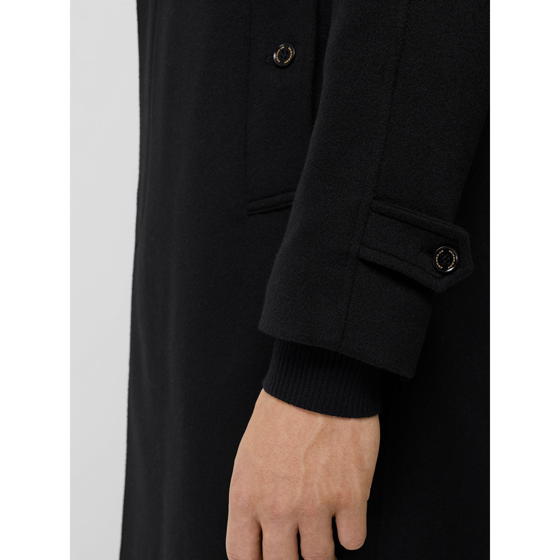 Cashmere Car Coat in Black - Men | Burberry United Kingdom - gallery image 4