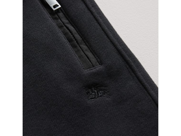 Drawcord Cotton Sweatpants in Black - Boy | Burberry - cell image 1