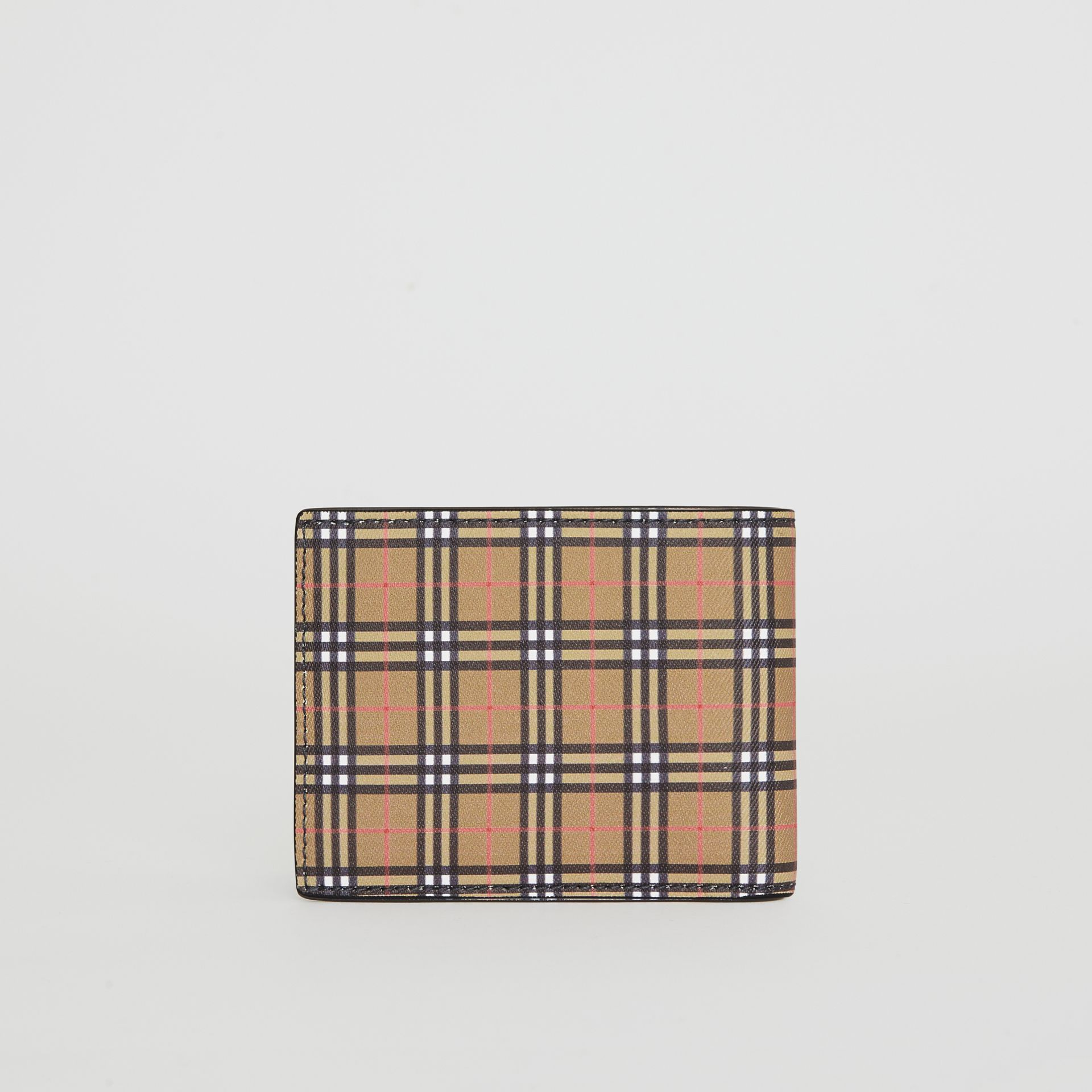Small Scale Check and Leather Bifold Wallet in Antique Yellow/dark Grey - Men | Burberry - gallery image 5