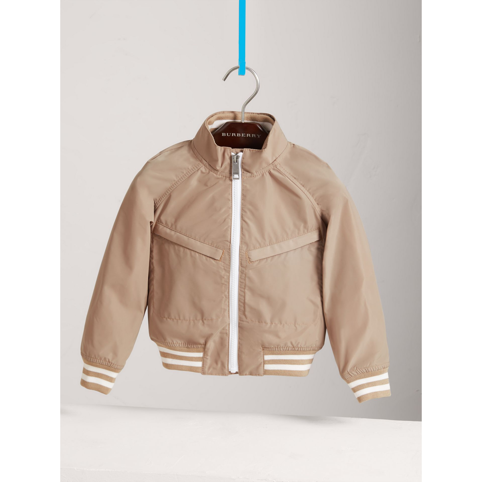 Lightweight Bomber Jacket in Stone - Boy | Burberry - gallery image 0