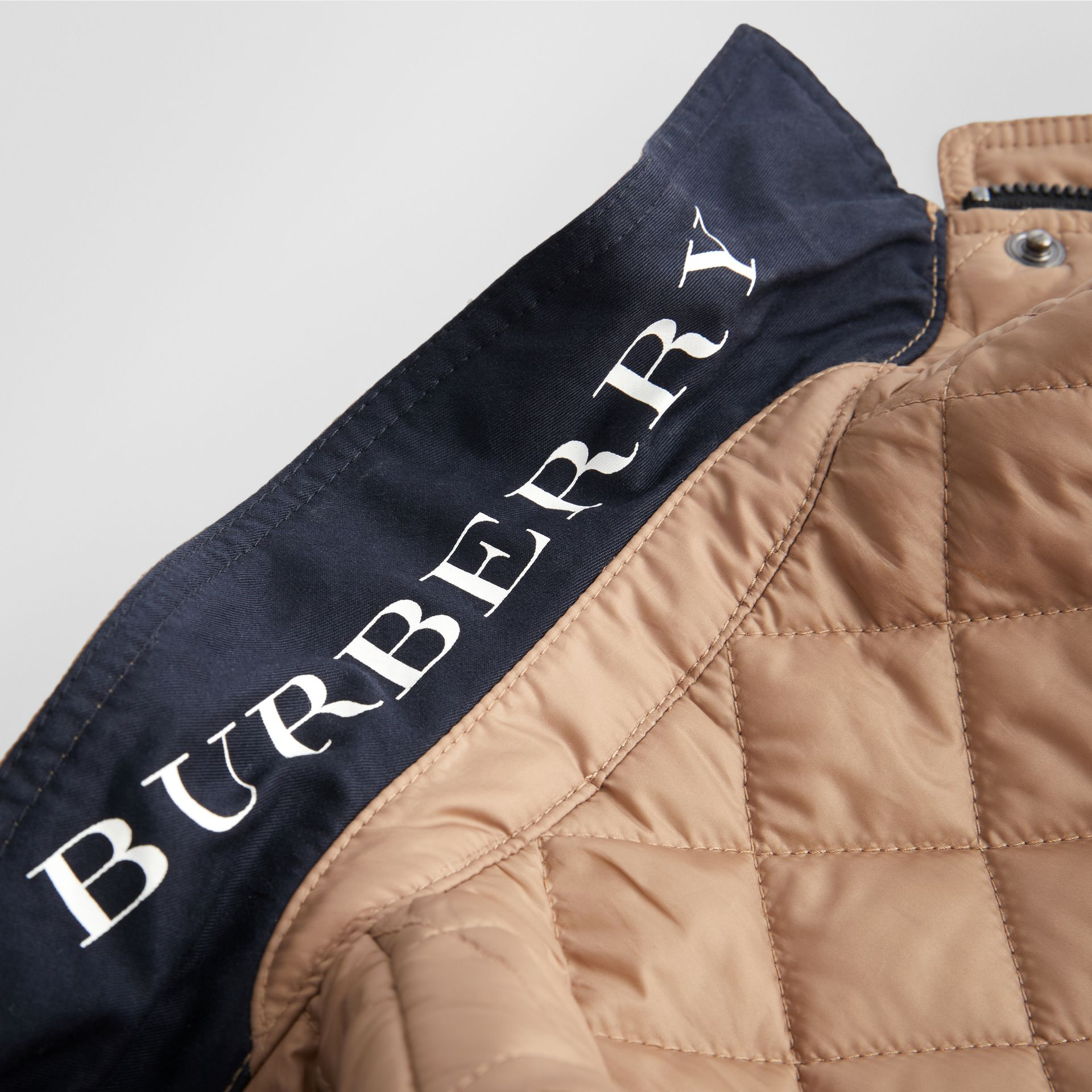 Lightweight Diamond Quilted Jacket in Camel - Children | Burberry Hong Kong - gallery image 1