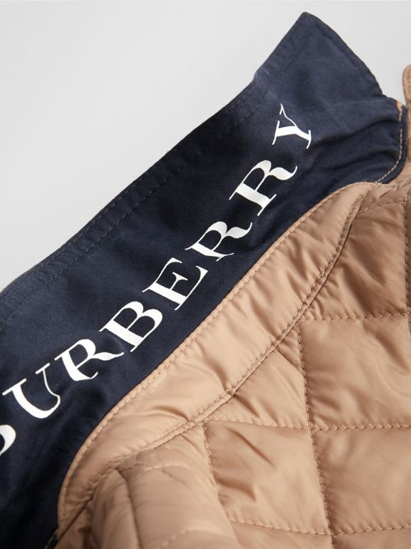 Lightweight Diamond Quilted Jacket in Camel - Children | Burberry - cell image 1
