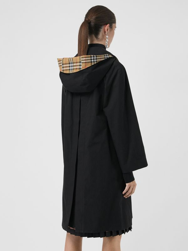 Detachable Hood Tropical Gabardine Car Coat in Black - Women | Burberry Hong Kong - cell image 2
