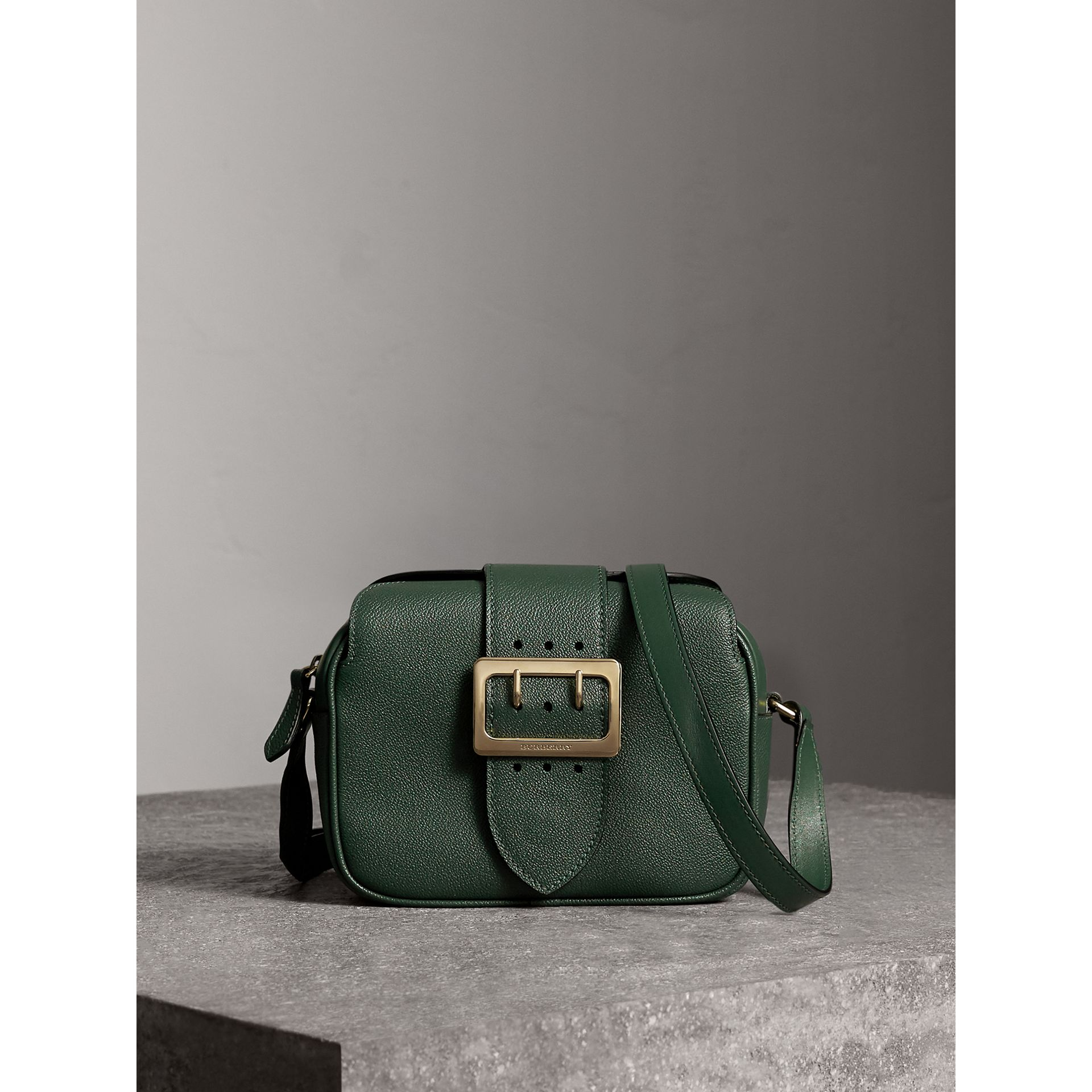 The Small Buckle Crossbody Bag in Leather in Sea Green - Women | Burberry - gallery image 1