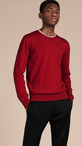 Lightweight Crew Neck Wool Sweater