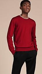 Lightweight Crew Neck Wool Sweater