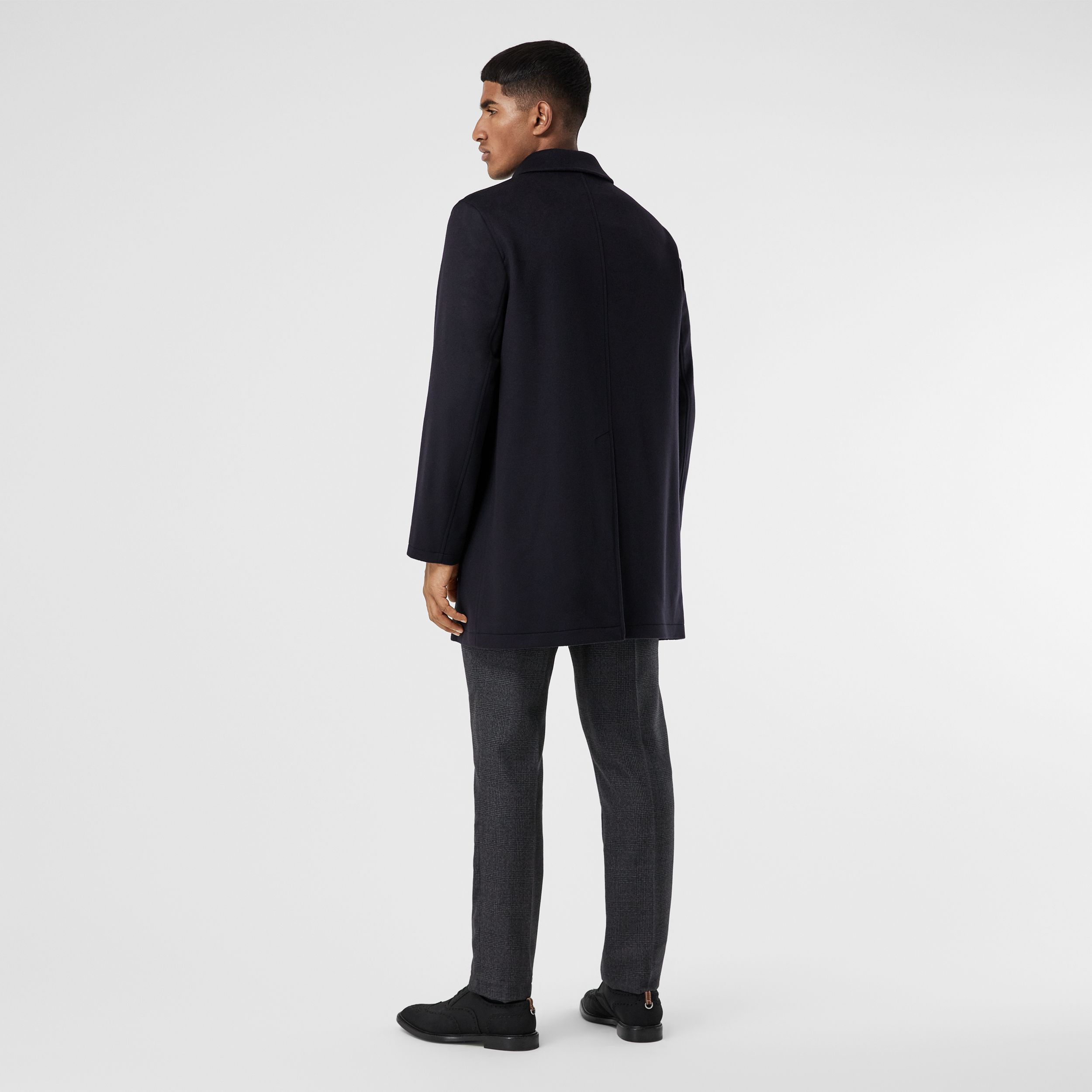 Wool Cashmere Car Coat in Navy - Men | Burberry United Kingdom - 3