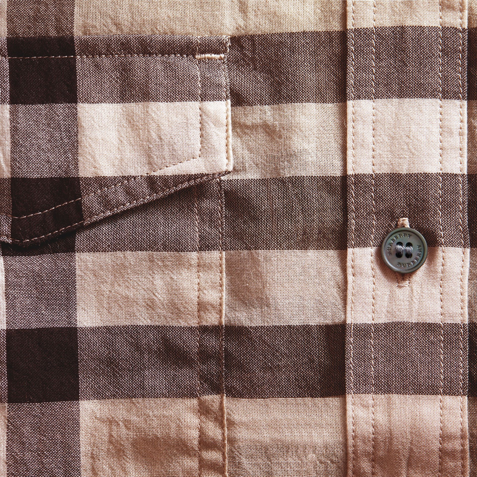 Check Cotton Shirt in Chino - gallery image 2
