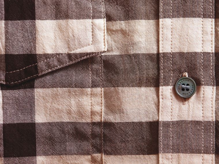 Check Cotton Shirt in Chino - cell image 1