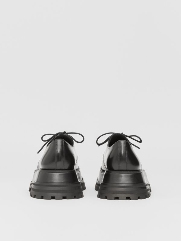 Leather Derby Shoes in Black - Women | Burberry - cell image 3