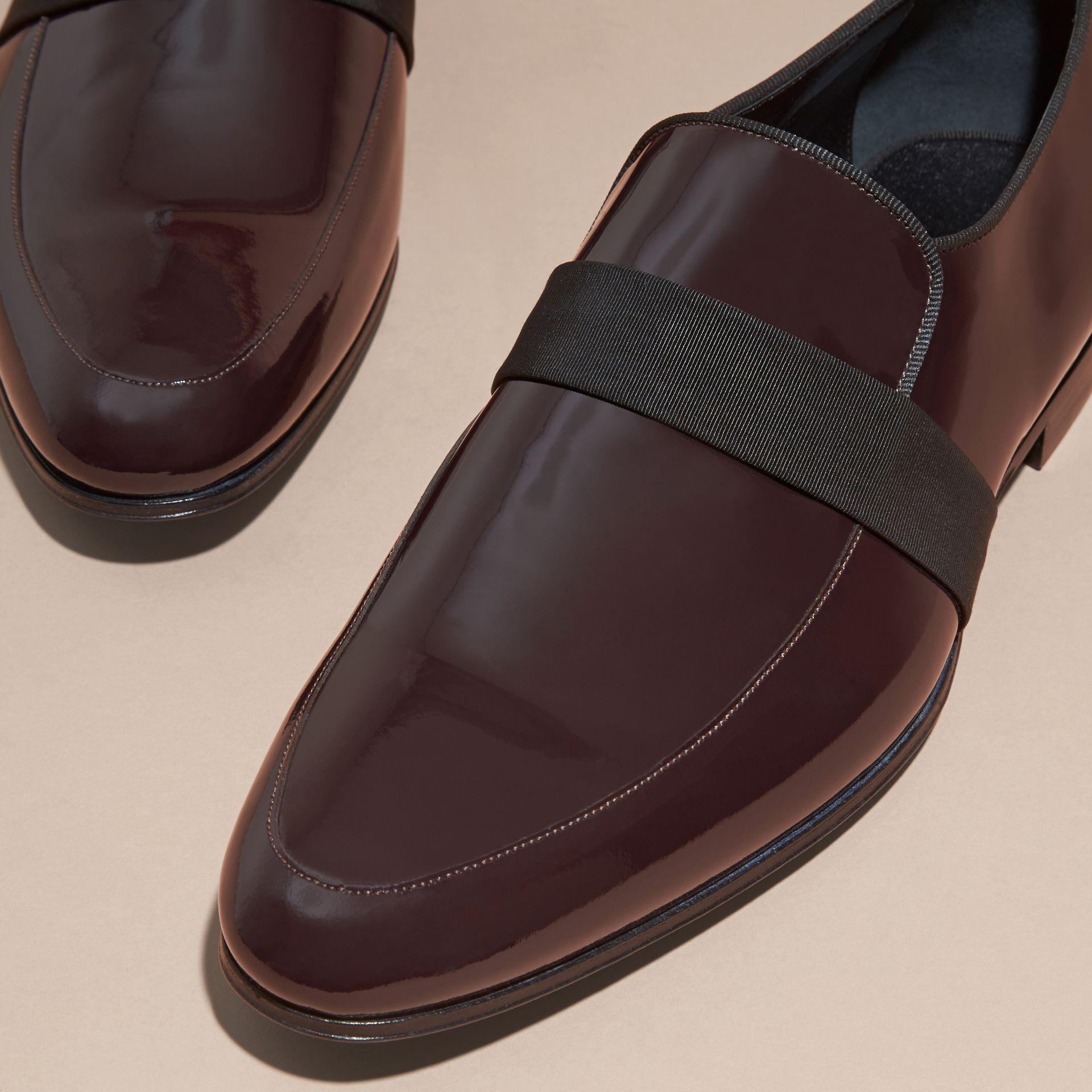 Dark claret Patent Leather Loafers - gallery image 2