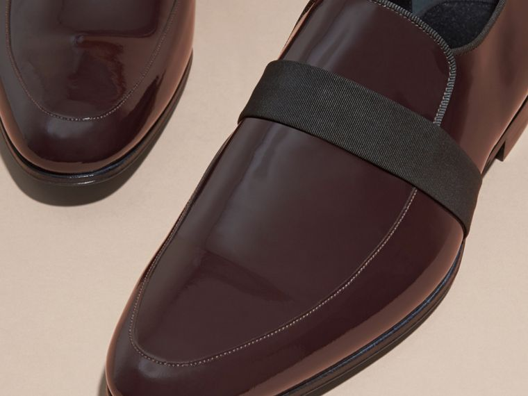 Dark claret Patent Leather Loafers - cell image 1